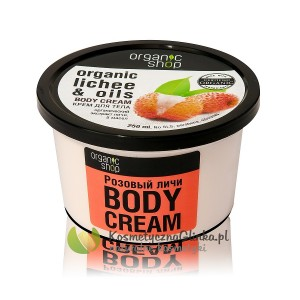 Krem do ciała różowe liczi Organic Shop 250ml