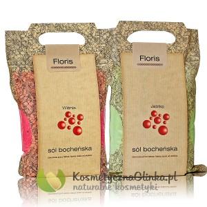 Zestaw soli bocheńskich Floris Wiśnia i Jabłko 2 x 1,2 kg