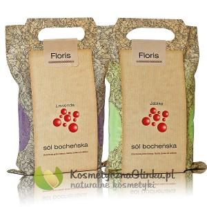 Zestaw soli bocheńskich Floris Lawenda i Jabłko 2 x 1,2 kg