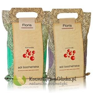 Zestaw soli bocheńskich Floris Konwalia i Lawenda 2 x 1,2kg