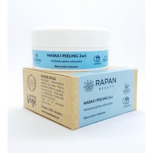 Maska i peeling 2w1 Rapan beauty Niebieska glinka syberyjska 100% Natural