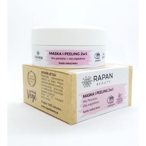 Maska i peeling 2w1 Rapan beauty Intensive Care Pure Nature 10 zabiegów